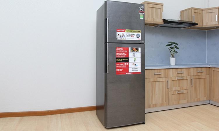 Tủ Lạnh Sharp Inverter 342 Lít SJ-X346E-SL 1