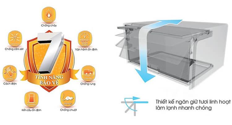 Tủ Lạnh Sharp Inverter 342 Lít SJ-X346E-SL 2