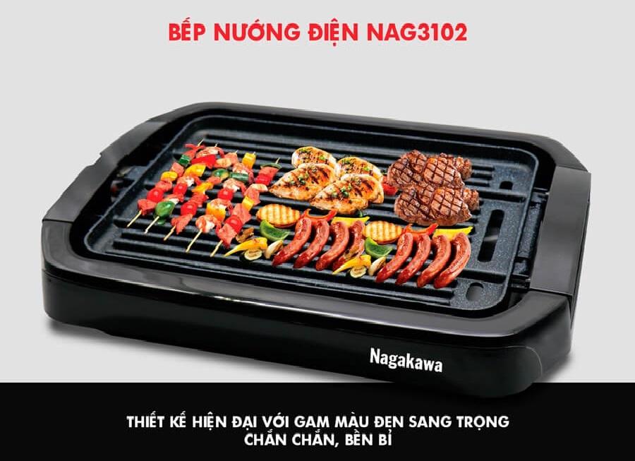 Bếp Nướng Điện 2 Mặt Nagakawa NAG3102 (2000W)