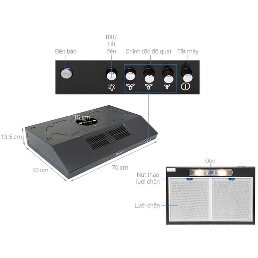 Máy Hút Mùi Electrolux EFT7516K