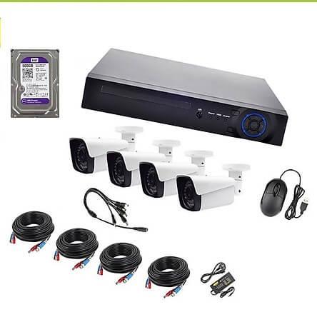 Bộ Camera Ahd Kit 4 Mắt 1080P Vỏ Kim Loại