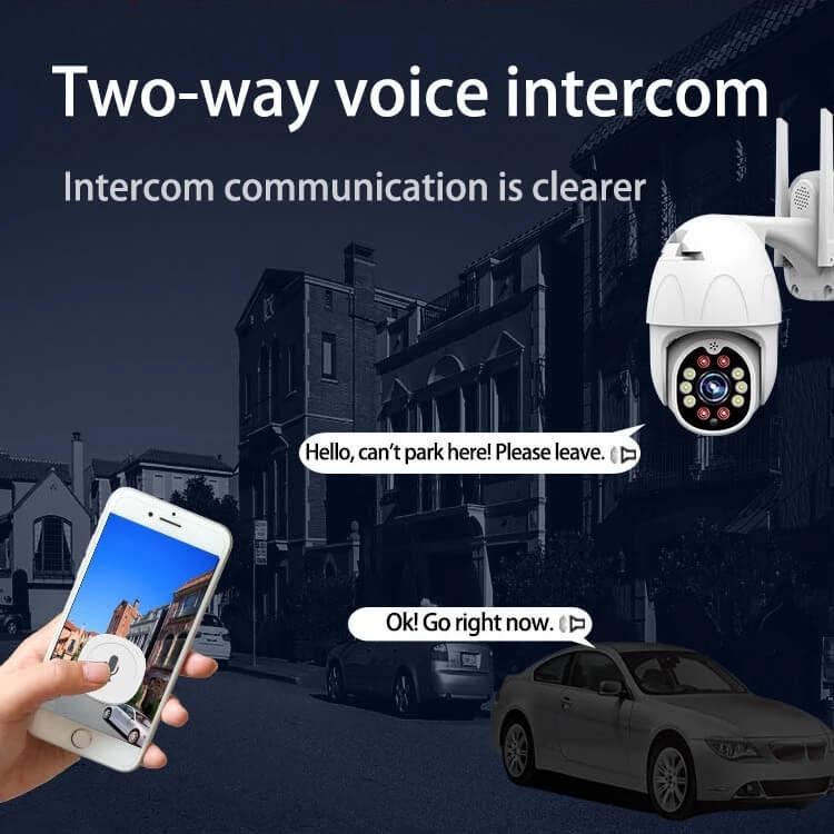 Camera IP không dây ngoài trời Yoosee PTZ 2 Râu FullHD 1080P đàm thoại 2 chiều