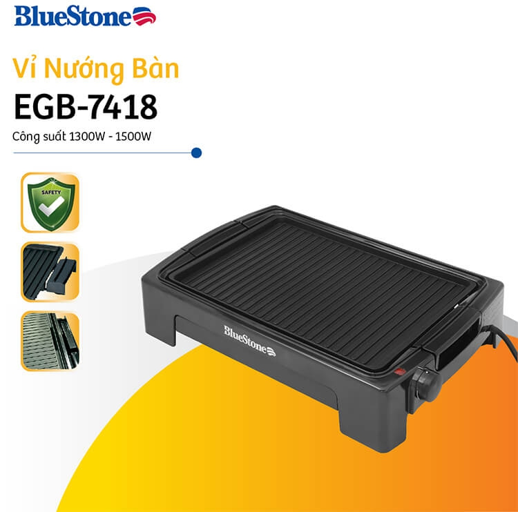 Vỉ Nướng Điện Ceramic Bluestone EGB-7418 (1500W) 1