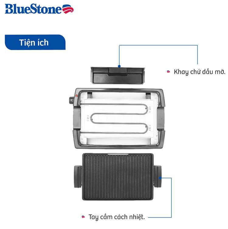 Vỉ Nướng Điện Ceramic Bluestone EGB-7418 (1500W) 5