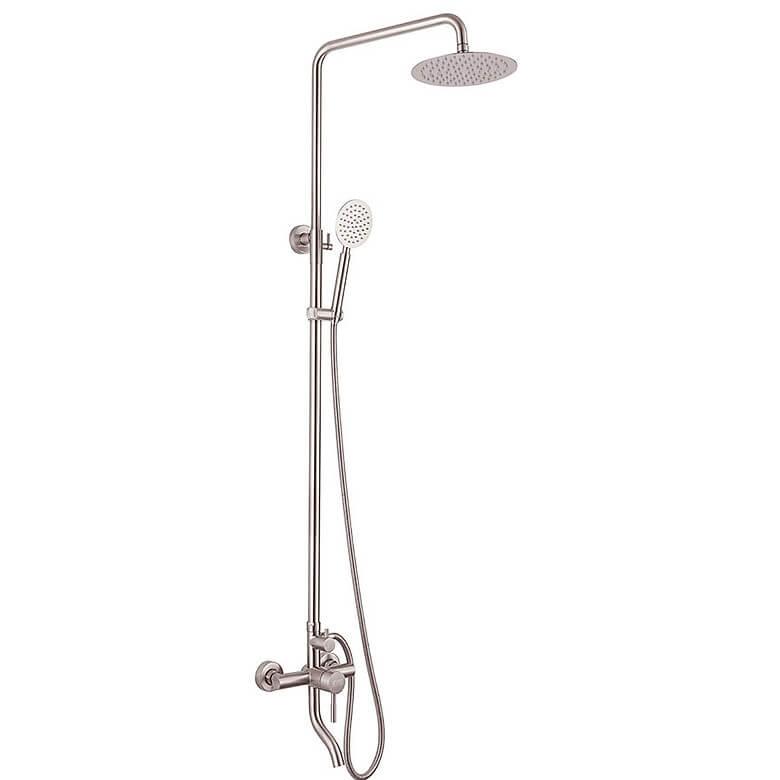 Bộ sen cây tắm đứng nóng lạnh Inox SUS 304 Eurolife EL-S918