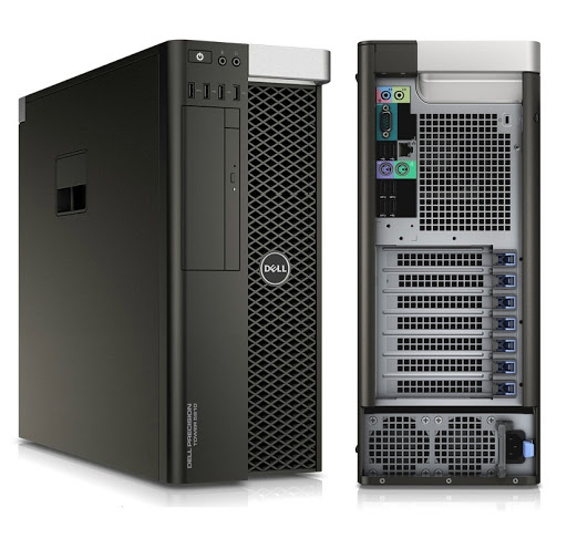 Máy Trạm Workstation Dell Precision T5810 Intel Xeon W-1650 V4 , Ram 32GB, SSD 512GB + HDD 1TB, Nvdia P2200