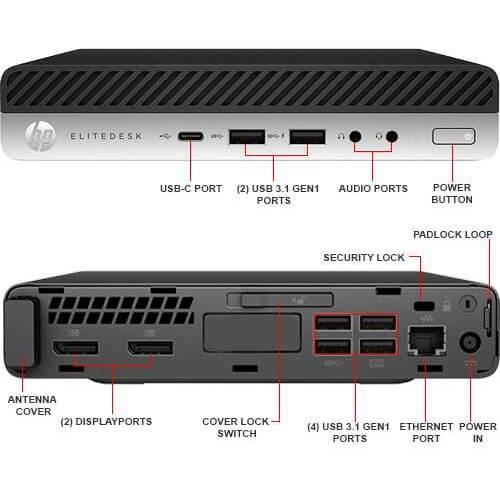 Máy Bộ HP EliteDesk 800 G3 Mini 2