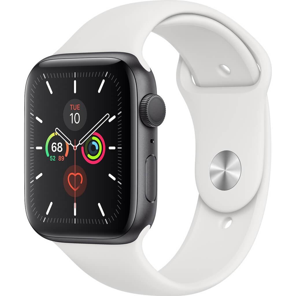 Đồng Hồ Thông Minh Apple Watch Series 5 GPS Only Aluminum Case With Sport Band (Viền Nhôm & Dây Cao Su) 40mm - Hàng Chính Hãng