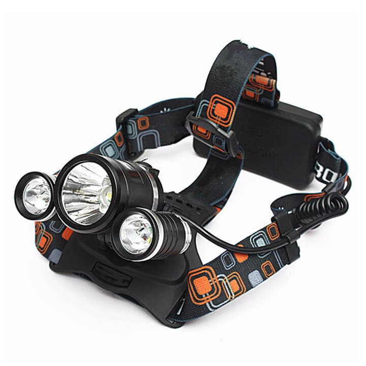 Đèn Pin Đội Đầu 3 Đèn Led Siêu Sáng Tiện Lợi